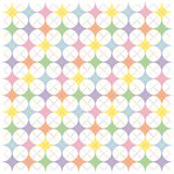 Pastel Rainbow Argyle Stars Pattern Stock Photos