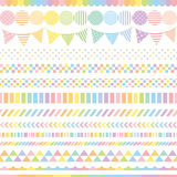 Pastel rainbow banners. Royalty Free Stock Photos