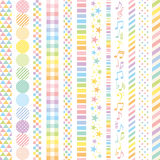 Pastel rainbow banners. Royalty Free Stock Photography