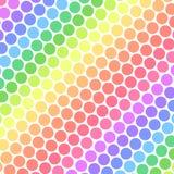 Pastel Rainbow Polka Dots. Pastel rainbow colored polka dots in diagonal lines Stock Photography