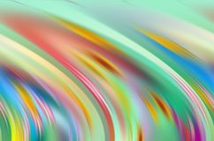 Rainbow shapes, gold blue red soft lines, colorful abstract background, abstract forms and geometries. Pastel rainbow vivid soft lines, geometries, shades stock illustration