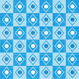 Pastel retro blue stripes mosaic plaid Royalty Free Stock Photo