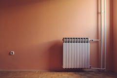 Pastel retro color of warm windows natural illuminated empty room Stock Photo
