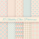 Pastel retro different vector seamless patterns. 10 Pastel retro different vector seamless patterns. Endless texture can be used for wallpaper, pattern fills Stock Images