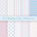 Pastel retro different vector seamless patterns. 10 Pastel retro different vector seamless patterns. Endless texture can be used for wallpaper, pattern fills Royalty Free Stock Photos