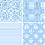Pastel retro different vector seamless patterns. Set of cute shabby chic ornaments Vector Illustration