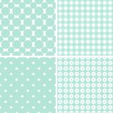 Pastel retro different vector seamless patterns. Set of cute shabby chic ornaments Royalty Free Illustration