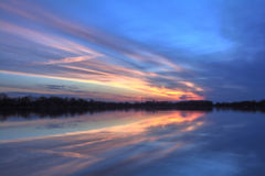 Pastel River Sunrise Royalty Free Stock Photos