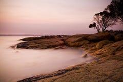 Pastel Rocks at Sunset Royalty Free Stock Photos