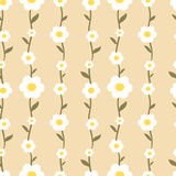 Pastel romantic daisy flowers seamless pattern background illustration Royalty Free Stock Photo