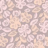 Pastel rose shade abstract flower seamless pattern stock illustration