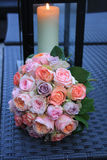Pastel roses in bridal bouquet Royalty Free Stock Photo