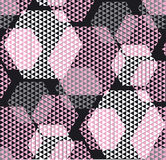 Pastel rosy color modern geometry hexagon tulle pattern. Stock Photos