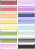 Pastel Rounded Rectangle Buttons. 16 Hihg quality, detailed Pastel Rounded and high res JPG formats Royalty Free Stock Photo