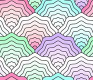 Pastel scales seamless pattern, fish tail, mermaid tail, seashells. Pastel colored scales seamless pattern, fish tail, mermaid tail, seashells Stock Images