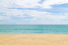 Pastel Sea sand sky Stock Image