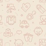 Pastel Seamless Baby Pattern Stock Image