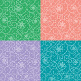 Pastel seamless background with swirls and snowflakes Royalty Free Stock Image