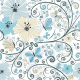 Pastel seamless floral pattern Stock Photos