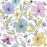 Pastel seamless floral pattern Stock Photo