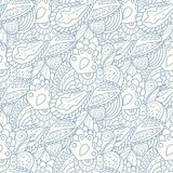 Pastel seamless pattern with hand drawn elements Stock Photo