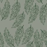 Pastel seamless pattern with hand drawn leaves. Soft and trendy color of the backdrop. Pastel seamless pattern with hand drawn leaves. Soft and trendy color of stock illustration