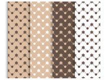 Pastel seamless pattern set, background. Vector illustration for elegant design. baby shower pattern. stock illustration