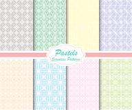 Pastel Seamless Patterns Royalty Free Stock Photo