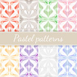 Pastel Seamless Patterns Set Stock Image