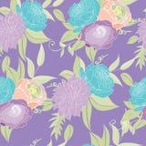 Pastel seamless peony pattern Stock Photography