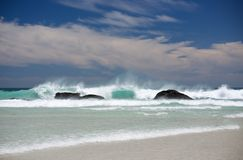 Pastel Seascape Cape Town Stock Photo