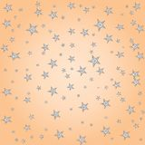 Pastel simple stars cute childish pattern, vector. Pastel simple star cute pattern, vector illustration. eps 10 stock illustration