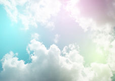 pastel sky with cloud. Stock Image