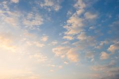 Pastel Sky Sunrise And Cloud Royalty Free Stock Images