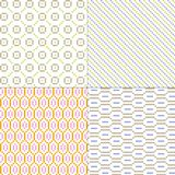 Pastel small geometric vector patterns. Four pastel small geometric vector patterns vector illustration