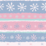 Pastel snowflakes seamless pattern Stock Photo