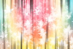 Pastel soft abstract background blur vertical lines, with maple. Leaf Royalty Free Stock Photos