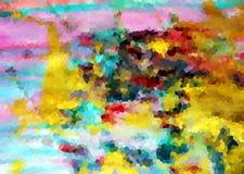 Pastel vivid contrasts background, diamond like abstract texture. Pastel soft vivid yellow blue diamond like shapes and soft forms texture in vivid hues royalty free illustration