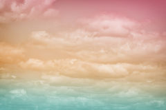 Pastel Spectrum of Clouds 2. A soft diffused abstract in a rainbow of colours. A great texture image for a background or overlay stock photo
