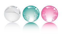 Pastel spheres. In pastel colors with stars bubbles and fantasy Royalty Free Stock Photos