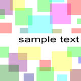 Pastel squares background Royalty Free Stock Photos