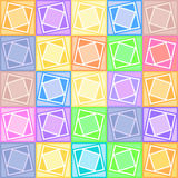 Pastel squares pattern Royalty Free Stock Photography
