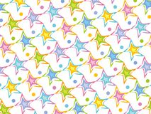 Pastel stars pattern Stock Image