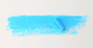Pastel stick dust on white paper Royalty Free Stock Image