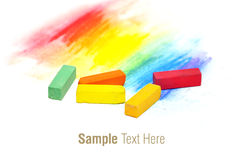 Pastel sticks. Colorful pastel sticks texture over white Royalty Free Stock Image