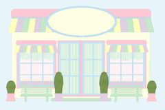 Pastel Store Front - Mouse Drawn Royalty Free Stock Photo