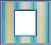 Pastel stripe frame. A picture frame on a pastel stripe fuzzy background Royalty Free Stock Photos
