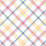 Pastel Stripe Plaid Stock Photography