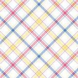 Pastel Stripe Plaid Stock Photography