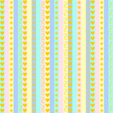 Pastel stripes with various patterns Stock Image